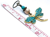 Dragonfly Stitch Markers for Knitting with Snag Free Closed Rings, Gifts for Knitters