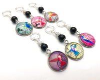 Mixed Hummingbird Stitch Markers for Knitting or Crochet
