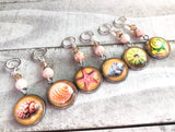 Beach Stitch Markers for Knitting or Crochet, Gifts for Knitter, Seashell Progress Keeper