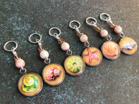 Beach Stitch Markers for Knitting or Crochet, Seashell Progress Keeper