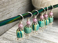 Striped Celtic Stitch Markers for Knitting, Gift for Knitter