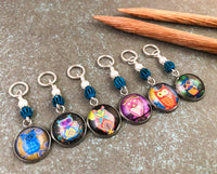 Mixed Owl Stitch Markers for Knitting or Crochet