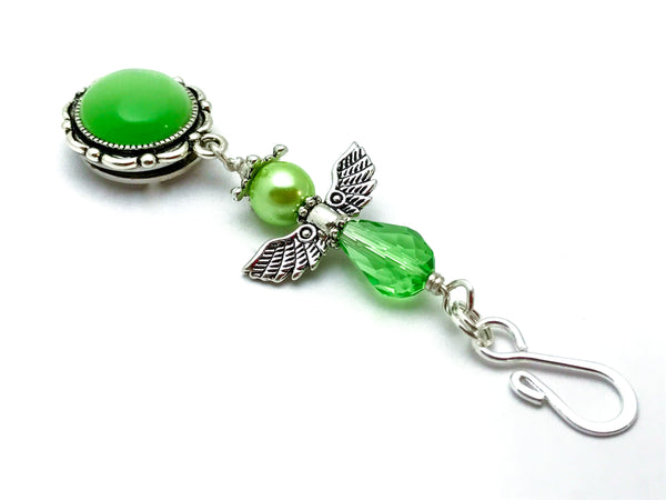 Green Angel Magnetic Portuguese Knitting Pin | Gift for Knitters |  | Brooch