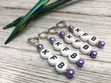 KFB Reminder Stitch Markers | Knitting Abbreviation Instruction Markers | Letter Marker | Progress Keeper