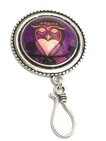 Sleepy Owl Magnetic Portuguese Knitting Pin | Gift for Knitters | PLUS Matching Stitch Markers