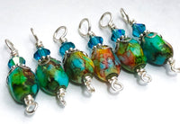 Vibrant Variegated Stitch Markers for Knitting, Gift Idea for Knitters