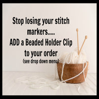Mixed Medallion Stitch Markers for Knitting or Crochet