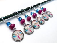 Dragonfly Stitch Markers for Knitting or Crochet, Gifts for Knitter, Snag Free