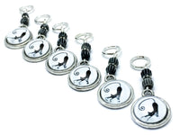 Funny Cat Stitch Markers for Knitting, Gifts for Knitters
