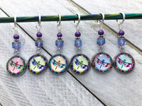 Dragonfly Stitch Markers for Knitting or Crochet