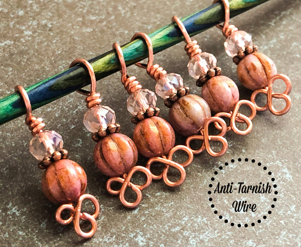 Celtic Copper Stitch Markers for Knitting, Gift for Knitters