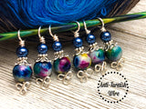 Celtic Rainbow Stitch Markers for Knitting, Gift for Knitters