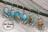 Celtic Beach Stitch Markers for Knitting, Gift for Knitters