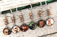 Yorkshire Terrier Stitch Markers for Knitting or Crochet