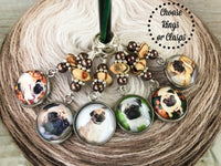 Blonde Pug Stitch Markers for Knitting or Crochet