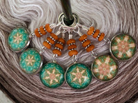 Kaleidescope Stitch Markers for Knitting or Crochet