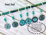 Portuguese Knitting Pin with Matching Stitch Markers, Magnetic