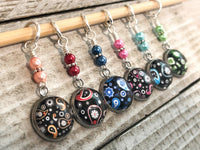 Mixed Paisley Stitch Markers for Knitting or Crochet, Gift for Knitters, Snag Free Rings or Clasps