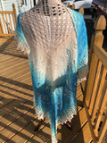 Lace Shawl, Wedding Shawl, Hand Knit Extra Large Wrap, OOAK