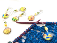 Sunflower Stitch Markers for Knitting or Crochet, Gifts for Knitter, Progress Keeper