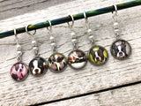 Boston Terrier Stitch Markers for Knitting | Gift for Knitters | Snag Free Rings or Clasps