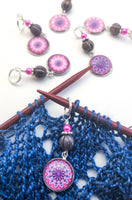 Mandala Print Stitch Markers for Knitting or Crochet
