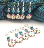 Butterfly Number Stitch Markers for Knitting or Crochet, Set of 10 or 20