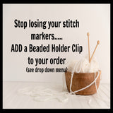 Custom Knitting Instruction Markers, Increase and Decrease Markers