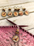 Squirrel Stitch Markers for Knitting or Crochet, Gift for Knitters, Progress Keepers
