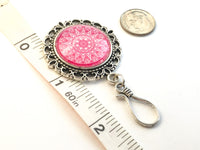 Bohemian Mandala Magnetic Portuguese Knitting Pin with Matching Stitch Markers