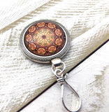 Magnetic Autumn Mandala Portugal Knitting Pin for Potuguese Knitting