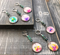 Ballerina Stitch Markers for Knitting or Crochet, Sets of 6-20