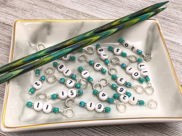 10-30 Number Stitch Markers for Knitting or Crochet