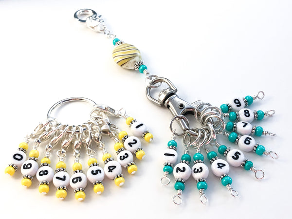 Stitch Markers with Numbers for Knitting or Crochet, Counts 0-99