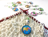 Boho Elephant Number Stitch Markers for Knitting or Crochet, Set of 10 or 20