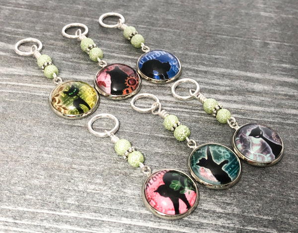 3-20 Cat Stitch Markers, Gift for Knitter, Snag Free Knitting Markers, Crochet Stitch Marker Option, Progress Keepers
