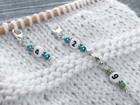 Number Stitch Markers, Row Counter, Progress Keepers, Counts 0-99