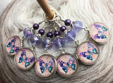 Butterfly Stitch Markers for Knitting or Crochet, Sets of 3-20 Markers