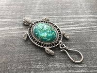 Magnetic Portuguese Knitting Pin, Turtle Knitting Brooch, Matching Stitch Markers