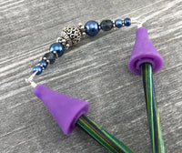 Knitting Needle Point Protector End Caps, Stitch Stopper