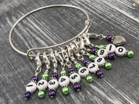 Stitch Marker Bracelet with Removable Number Stitch Markers