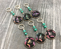 Dragonfly Stitch Markers for Knitting, Choose Rings or Clasps