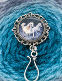 Portuguese Knitting Pin, Horses, Magnetic Pin