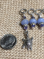 Turtle Knitting Stitch Marker set - Snag Free Beaded Stitch Markers - Gifts for Knitters - Knitting Jewelry - Tools - Crochet Markers ,  - Jill's Beaded Knit Bits, Jill's Beaded Knit Bits  - 5