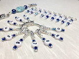 0 to 99 Numbered Row Counter System with Beaded Lanyard Holder- Numbered Piggyback Snag Free Stitch Markers- Gifts for Knitters ,  - Jill's Beaded Knit Bits, Jill's Beaded Knit Bits  - 4