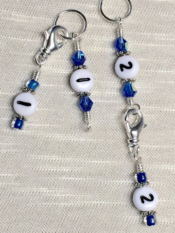 0 to 99 Numbered Row Counter System with Beaded Lanyard Holder- Numbered Piggyback Snag Free Stitch Markers- Gifts for Knitters ,  - Jill's Beaded Knit Bits, Jill's Beaded Knit Bits  - 5