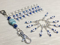 0 to 99 Numbered Row Counter System with Beaded Lanyard Holder- Numbered Piggyback Snag Free Stitch Markers- Gifts for Knitters ,  - Jill's Beaded Knit Bits, Jill's Beaded Knit Bits  - 1