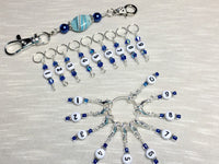 0 to 99 Numbered Row Counter System with Beaded Lanyard Holder- Numbered Piggyback Snag Free Stitch Markers- Gifts for Knitters ,  - Jill's Beaded Knit Bits, Jill's Beaded Knit Bits  - 2