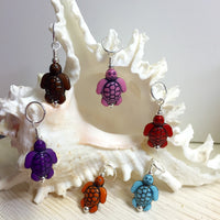6 Little Turtles Stitch Markers- Gift for Knitters ,  - Jill's Beaded Knit Bits, Jill's Beaded Knit Bits  - 1