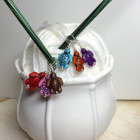 6 Little Turtles Stitch Markers- Gift for Knitters ,  - Jill's Beaded Knit Bits, Jill's Beaded Knit Bits  - 2
